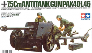 German 75mm Anti Tank Gun Tamiya 35047