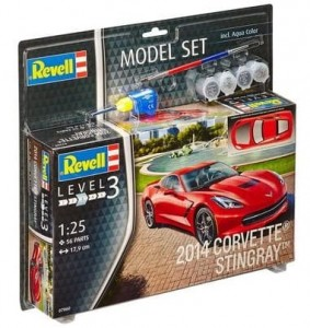 Corvette Stingray 2013 model do sklejania - zestaw Revell
