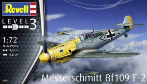 Messerschmitt Bf 109 F-2 model do sklejania Revell 3893